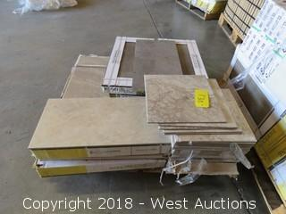 "Pallet; (8) Boxes of Assorted 12"" X 24"" Tile"