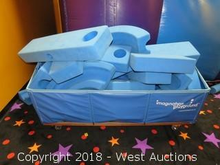 Imagination Playground Foam Blocks with Cart
