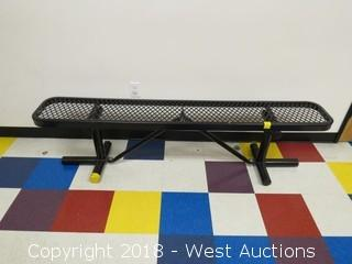 Global Industries 6' Metal Bench