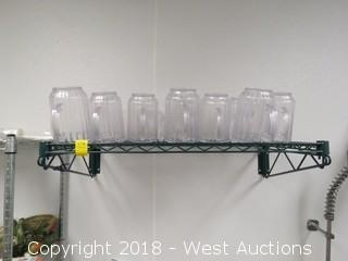 Wall Rack with Drink Pitchers 3'x1.5' with Drink Pitchers