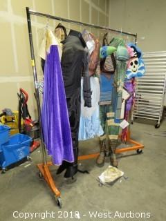 Costume Display Rack with (4) Costumes