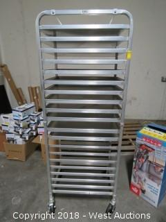 Stainless Steel Tray Rack on Casters