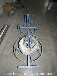 Portable Wire Spool Cart with Wire