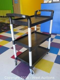 Cambro Black 3-Shelf Utility Cart