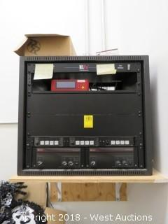 Server Box with NLFX Power Distribution Unit and (5) Audio Boxes