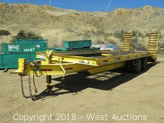 1981 Zieman 23' Flatbed Equipment Trailer