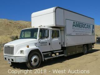1998 Freightliner FL70 Cummins Diesel 22' Cabover Box Truck with Lift Gate