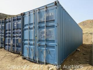 (1) 40' Extra Tall Sea Container