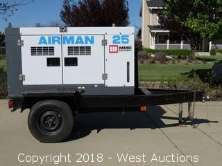 Airman SDG25S Trailer Mounted Engine Generator