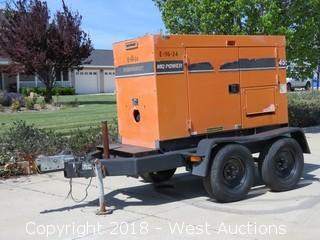 MQ Power Whisperwatt Trailer Mounted Diesel Powered AC Generator (Non Functional)