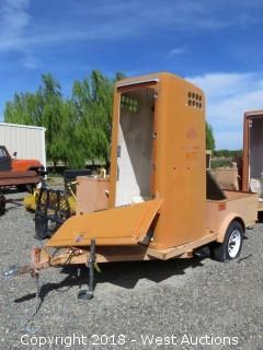 2001 Trailer Mounted Portable Bathroom