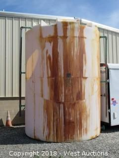 "3,000 Gallon Tank with Fiberglass Ladder and 2"" Ball Valve"