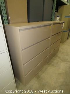 (2) Steelcase 4-drawer filing cabinets