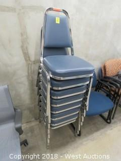 (8) Stacking Banquet Chairs