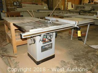 Delta Industrial Unisaw Table Saw with Biesemeyer Precision Fence
