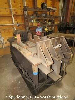 Custom Built Heavy Duty Bulldozer Angle Press with Tools and Dies