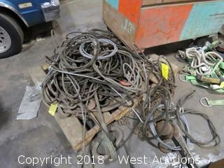 Bulk Lot: (5+) Steel Wire Rope Lifting Slings