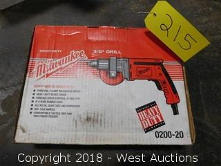 "Milwaukee 0200-20 Heavy Duty 3/8"" Drill"