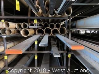 "(4) Hot Roll Steel Recbar Assorted Sizes 1/2""x1 1/2""-1/2""x2 1/2"""
