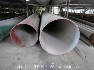 (6) 304 Various Sized Pipes