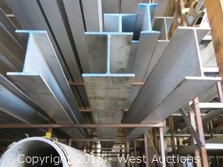 "6061 I-beams; Sizes: (1) 8""x5""x.250""x.410"", (1) 8""x8""x.288""x.433"", (1) 1""x6""x.250""x.410"""