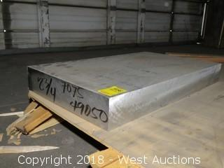 "Aluminum: (1) 7075 2 3/4"" Thick Plate; 13""x22 1/2"""