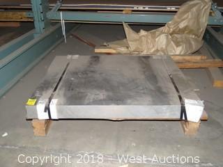 """Aluminum: (1) 2124 3"""" Plate; 26 1/2""""x23"""""""