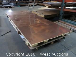 16 Oz. Copper Sheet, with Aluminum Sheet