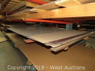 "5052 Aluminum Sheet; (1) 148""x144"", (1) 48""x55 3/4"""