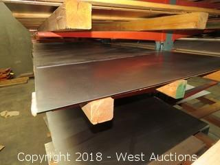 "14-Gauge Cold Rolls Steel Sheet; (1) 48""x120"", (1) 48""x31"""