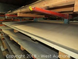 "Cold Rolls Steel 22-gauge Sheets; (2) 48""x120"", (1) 48""x48"""