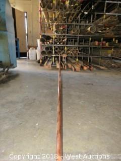 """Copper: (7) 1/4"""" x 1/2"""", (10) 1/4"""" x 5/8"""" Recbar"""