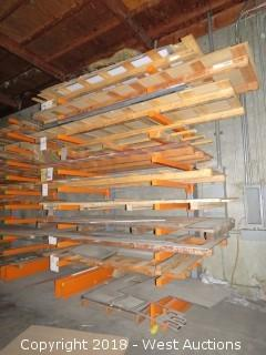 Single Sided Cantilever Material Rack (rack only)