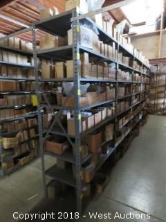 (5) Warehouse Metal Storage Racks (racks only)