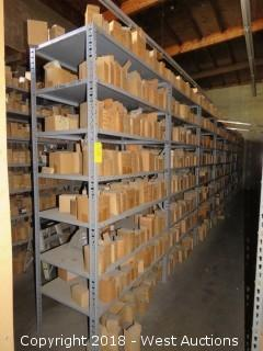 (8) Warehouse Metal Storage Racks (racks only)