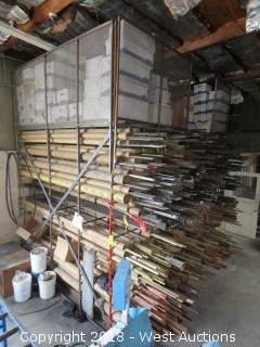 Bar Storage Material Rack with Top Storage Platform (rack only)