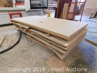 (1) Pallet of 4' X 8' Stock Sheeting