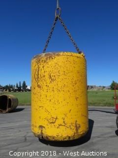 O.J. Industries 40,000 LB Capacity Side Dump Steel Muck Bucket with Rigging