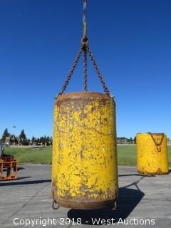 O.J. Industries Side Dump Muck Bucket with Rigging