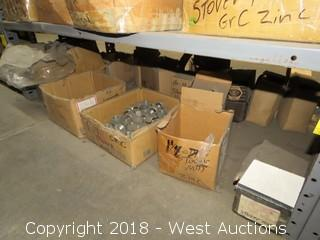 (3) Boxes of Zinc Stover Bolts, Yellow Hex Bolts, Hex Cap Screws, and More