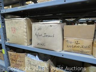 (7) Boxes of Zinc Nyloc Nuts, Hex Head Bolts, and More