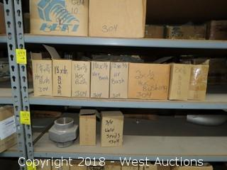 (10+) Boxes of Ell, Street Elbows, Sch 40 90° Elbow, Sch 40 45° Weld Ell, and Split Washers