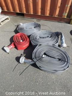 "(4) 3"" Rubber Jacketed Water Supply Hoses"