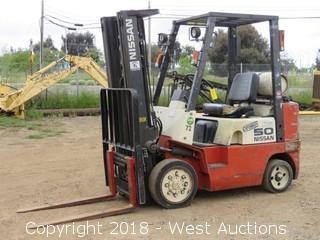 Nissan 4,400 Lbs Capacity Propane Forklift