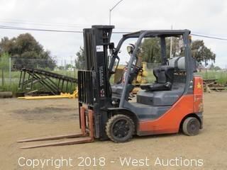 Toyota 4,500 Lbs Capacity Propane Forklift