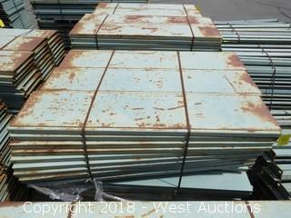 Pallet of Metal Shelf Pallet Rack Decking