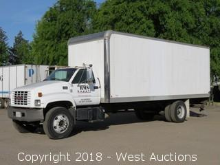 2001 GMC C6500 24' Diesel Box Truck with Lift Gate