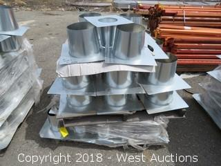 "Pallet of 8"" Galvanized Sheet Metal Sub-Flashing"