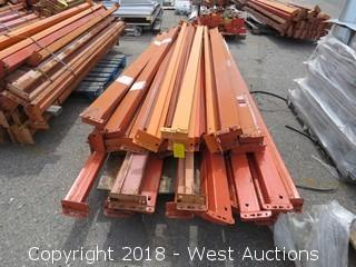 (1) Pallet of 8'-11'L Pallet Racking Sections