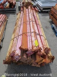 (1) Pallet of 8'L Pallet Racking Sections
